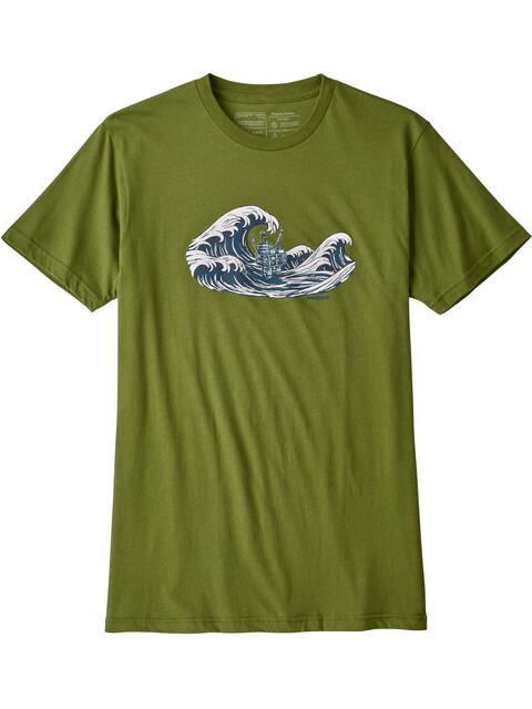 Patagonia Oily Olas Organic t-shirt Heren groen